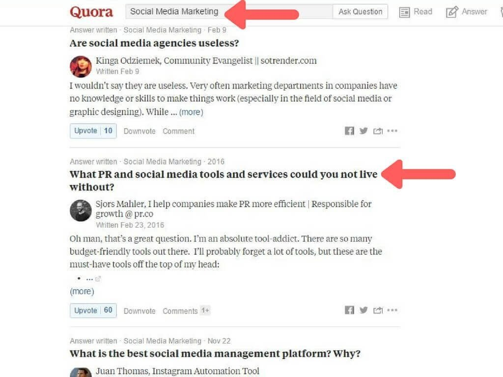 Joining Discussions on Quora
